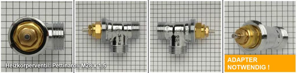 Heizkörperventil Pettinaroli M28 x 1,5 - Quelle: eQ-3 AG/Staudigl