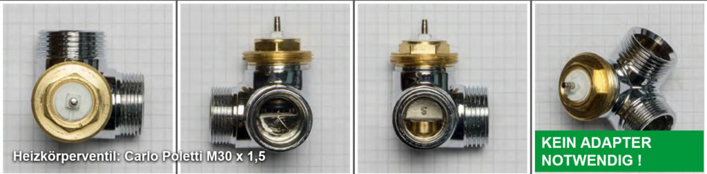Heizkörperventil Carlo Poletti M30 x 1,5 - Quelle: eQ-3 AG/Staudigl