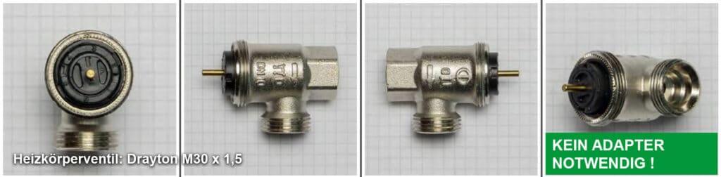 Heizkörperventil Drayton M30 x 1,5 - Quelle: eQ-3 AG/Staudigl