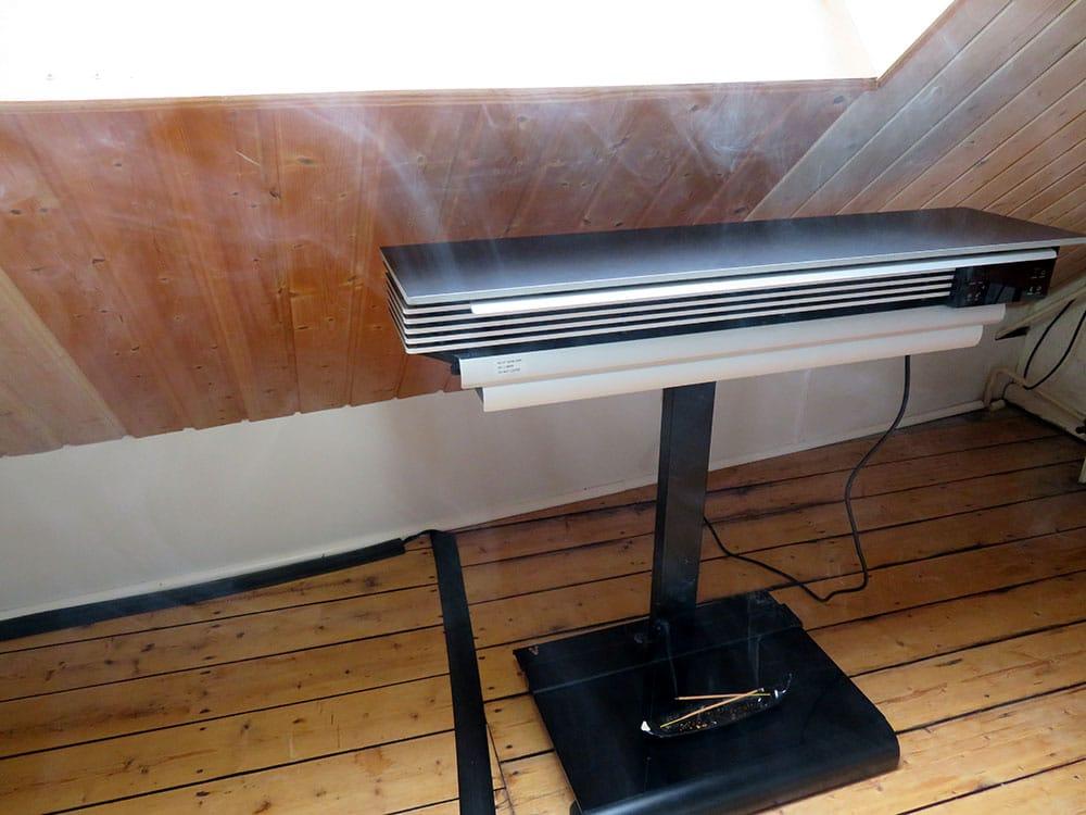 Testumgebung wiBio Luftreiniger - der Raum ist eingenebelt