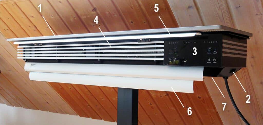 wiBio Luftreiniger mit Beschriftung