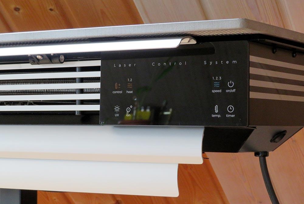 wiBio Luftreiniger mit Blick auf das Display